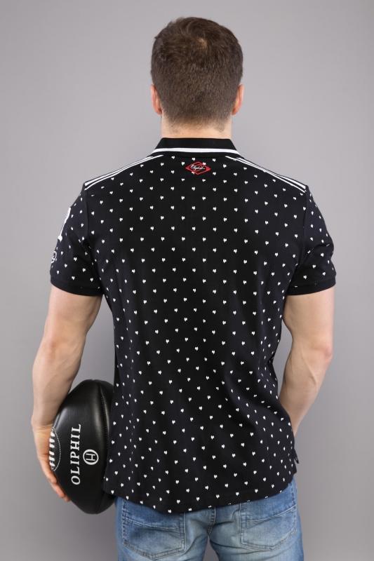 Polo noir motifs
